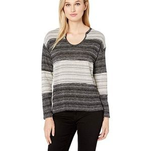 Vince Camuto Colour Block Striped Long Sleeve